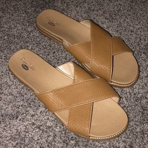 Dr. Scholl's Original Collection Tan Slides